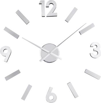 Reloj de pared números adhesivos EVA y aluminio