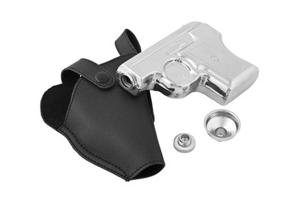 Petaca pistola inox