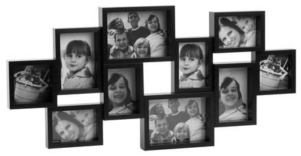 marco de fotos city m ltiple de 10 fotos de color negro. Black Bedroom Furniture Sets. Home Design Ideas