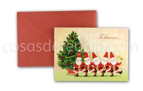 Felicitación de Navidad Pop-up Te deseamos ...