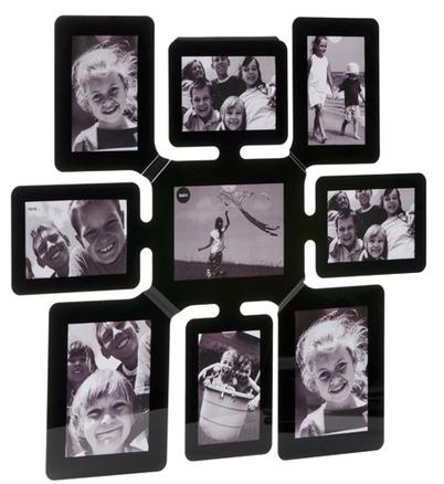 Marco de fotos snake m ltiple para 9 fotos de color negro - Marcos de fotos multiples ...