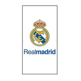 Toalla blanca escudo Real Madrid 75x150cm