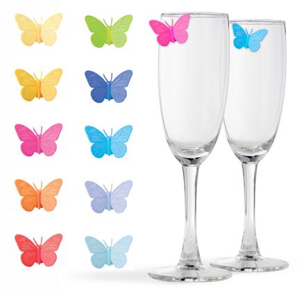 Marca copas Drink Wings (10 unidades) colores surtidos