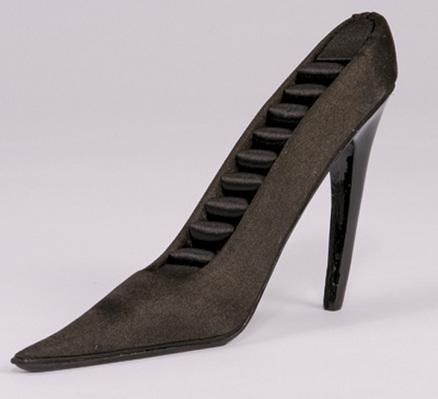 Soporte para anillos en forma de zapato