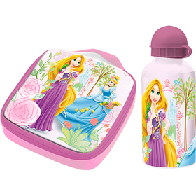 Set de sandwichera termica y cantimplora de aluminio de Princesas Disney