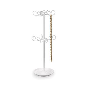 Árbol para joyas extensible de color blanco