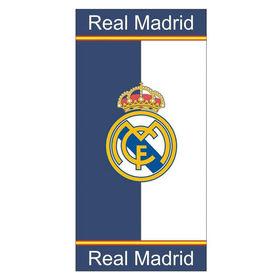 Toalla Real Madrid fondo blanco y azul