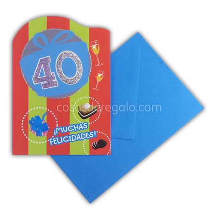 Felicitación de Cumpleaños de los 40 hombre