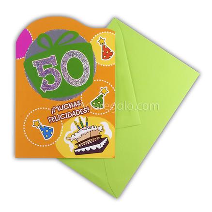 Felicitación de Cumpleaños de los 50