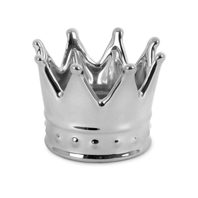 Porta anillos Royal plateado de cerámica
