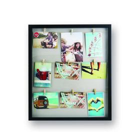 Marco de fotos múltiple Woody para 9 fotos de color negro