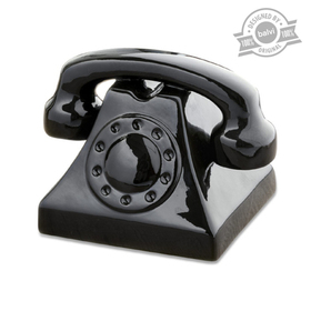 Hucha Ring Ring negro cerámica