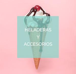 Heladeras y accesorios para helados y granizados