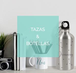 Tazas y botellas personalizadas