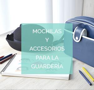 Mochilas y accesorios para la guardería.