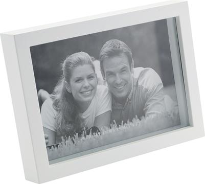 Marco de fotos con marco blanco de plástico para 1 foto 13x18