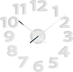 Reloj de pared adhesivo Mega d.60 de color blanco EVA y de plástico