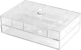 Joyero 2 niveles apilable transparente acrílico