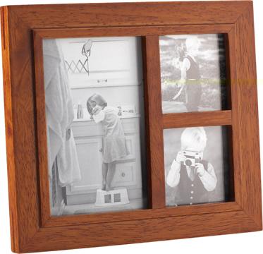 Marco de fotos Newport múltiple para 3 fotos colonial claro mader