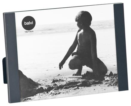 Marco de fotos Padova para 1 foto 13x18 de color negro de aluminio