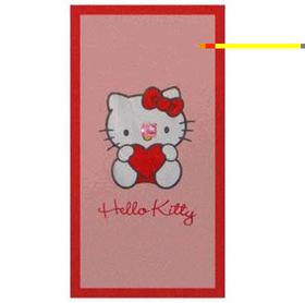 Toalla Hello Kitty con corazón Sanrio 75x150cm