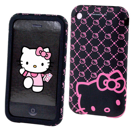 Funda protectora iPhone 3G-3GS Hello Kitty