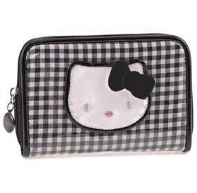 Cartera con cremallera Lolly de color negro Hello Kitty