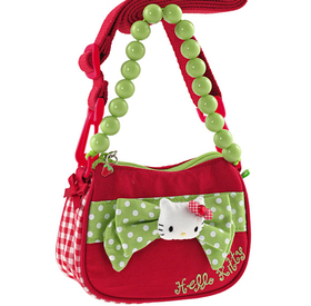 Bandolera roja y verde Hello Kitty
