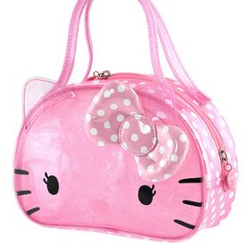 Mini bolso transparente de color rosa con topos Hello Kitty