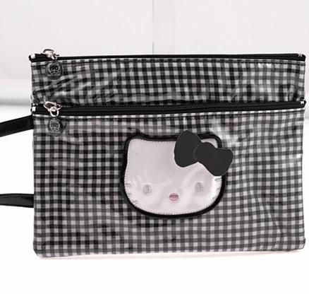 Bolsa con asa mediana Lolly negro Hello Kitty