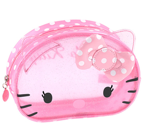Bolsa transparente de color rosa Hello Kitty