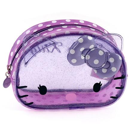 Bolsa transparente de color lila Hello Kitty