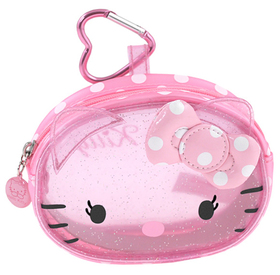 Monedero transparente de color rosa Hello Kitty