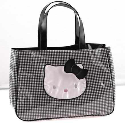 Bolso mediano Lolly negro Hello Kitty