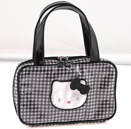 Bolso rectangular Lolly de color negro Hello Kitty