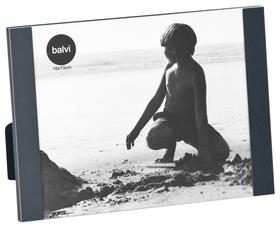 Marco de fotos Padova para 1 foto 15x20 de color negro aluminio