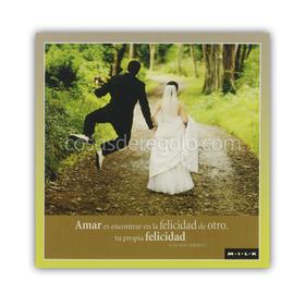 Felicitación MILK - Amar es encontrar en la felicidad de otro...