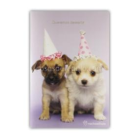 Felicitación de Cumpleaños musical de rachaelhale perros Luke y Emma