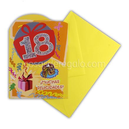 Felicitación de Cumpleaños de los 18
