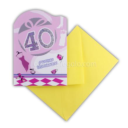 Felicitación de Cumpleaños de los 40 mujer