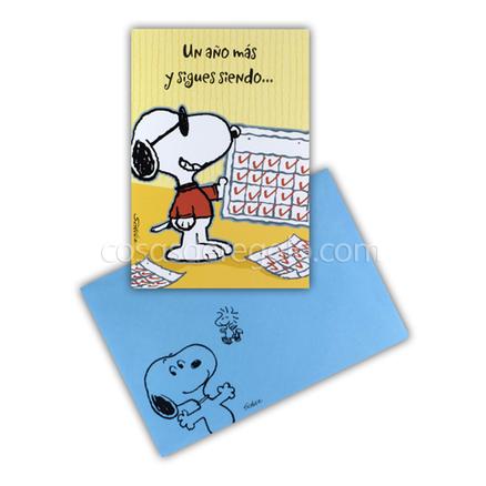 Felicitación de Cumpleaños de Snoopy con calendarios
