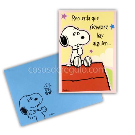 Felicitación de Cumpleaños de Snoopy esta con la mano en la cara