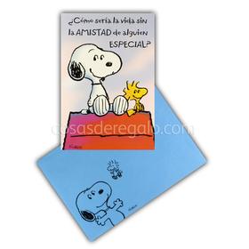 Felicitación de amistad de Snoopy con un amigo