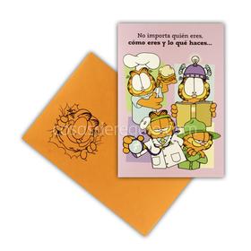 Felicitación de amistad de Garfield, con varios trabajos