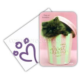 Felicitación Amor de rachaelhale gato Chocky