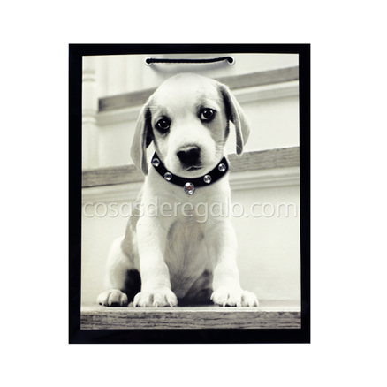 Bolsa de regalo Perro con collar strass