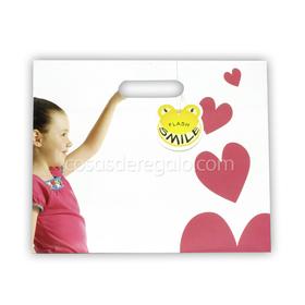 Bolsa de regalo de la niña cogida de la mano Flash Smile