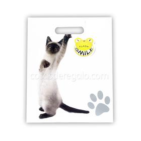 Bolsa de regalo gato cogido de la pata Flash Smile