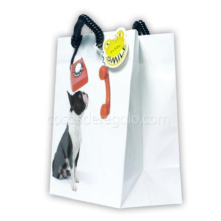 Bolsa de regalo de un perro con tel fono flash smile - Bolsas para flash ...