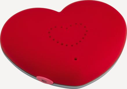 Imán con forma de corazón mensaje grabable de ABS